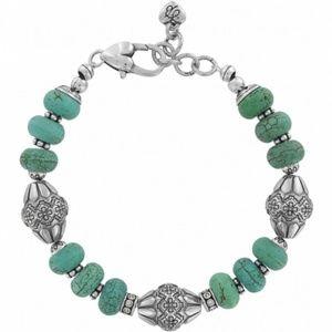 NWOT Brighton Santa Fe Turquoise Beads Bracelet